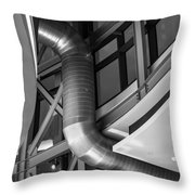 Flowing Duct Throw Pillow