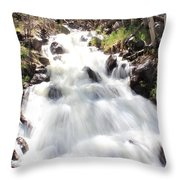 Flowing Fast Throw Pillow