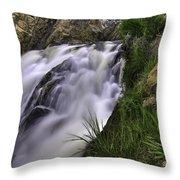 Flowing Glow Throw Pillow