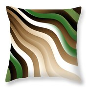Flowing Graphic Throw Pillow