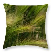 Flowing Grasses Throw Pillow