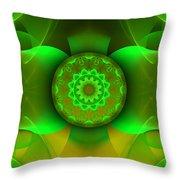 Flowing Green Throw Pillow