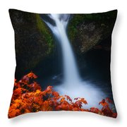 Flowing Into Fall Throw Pillow