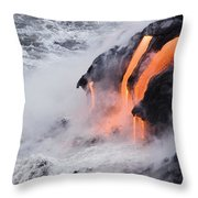 Flowing Pahoehoe Lava Throw Pillow