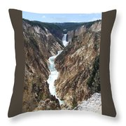 Flowing Through Throw Pillow