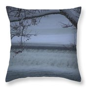 Flowing Through Ice Throw Pillow