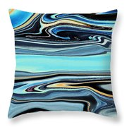 Flowing Tide Throw Pillow