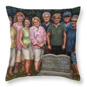 Floyd Family Cousin's Portrait Throw Pillow