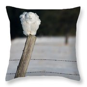 Fluff Cycle Snowy Throw Pillow