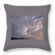 Fluff In The Sky Throw Pillow