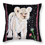Fluffy And Thistle Throw Pillow