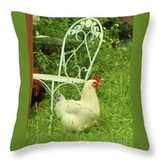 Fluffy Chicken Throw Pillow
