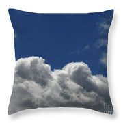 Fluffy Clouds 1 Throw Pillow