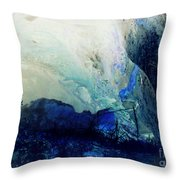 Fluid Enchantment Throw Pillow by Janice Sakry