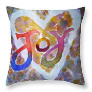 Fluid Joy Throw Pillow