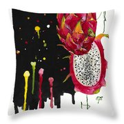 Fluidity 01 Elena Yakubovich Throw Pillow