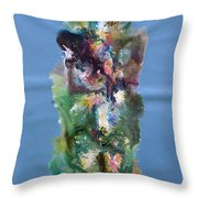 Fluidity 3 Throw Pillow