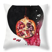 Fluidity Vii - Elena Yakubovich Throw Pillow by Elena Yakubovich