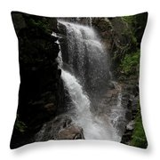 Flume Gorge Waterfall Nh Throw Pillow
