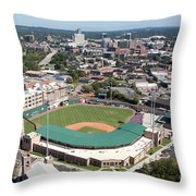 Fluor Field At The West End Greenville Throw Pillow