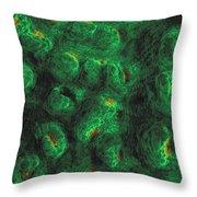Fluorescent Corals, Mycedium Throw Pillow