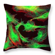 Fluorescent Microscopy Throw Pillow