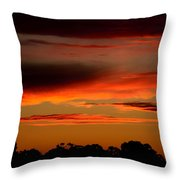 Fluorescent Sunset Throw Pillow