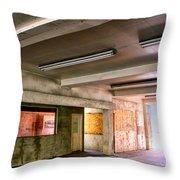 Fluorescent Underground Palm Springs Throw Pillow