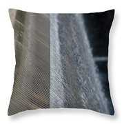 Fluted Water Throw Pillow