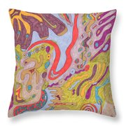 Flutterfly Land Throw Pillow