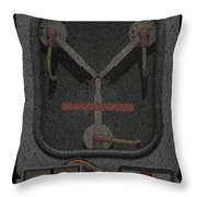 Flux Capacitor Mosaic Throw Pillow