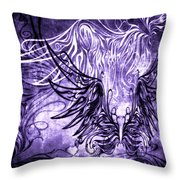 Fly Away Gothic Grape Throw Pillow