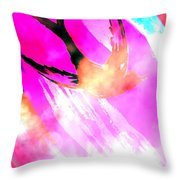 Fly Away Home Abstract Throw Pillow