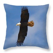 Fly Eagles Fly Throw Pillow