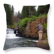 Fly Fisherman's Paradise Throw Pillow