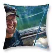 Fly Fishing Emerald Lake, Weminuche Throw Pillow