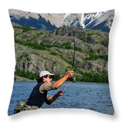 Fly Fishing In Patagonia Throw Pillow