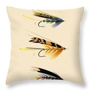 Fly Fishing-jp2095 Throw Pillow