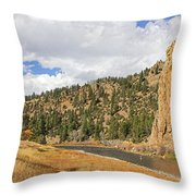 Fly Fishing The Big Hole River Montana Throw Pillow