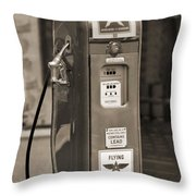 Flying A Gasoline - National Gas Pump 2 Throw Pillow by Mike McGlothlen