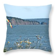 Flying A Kite On The East Coast Throw Pillow