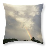 Flying Ahead Throw Pillow