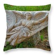Flying Angel In Ephesus-turkey Throw Pillow