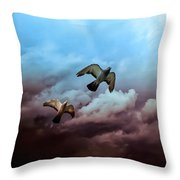 Flying Before The Storm Throw Pillow