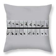 Flying Bird Throw Pillow by Eadweard Muybridge