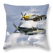 Flying Brothers Throw Pillow