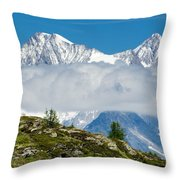 Flying Cloud Throw Pillow