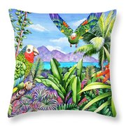 Flying Colours Throw Pillow by Carolyn Steele