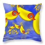 Jumping Fantasy Animals Throw Pillow
