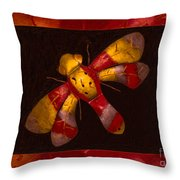 Flying Fantasies Of Light Abstract Painting Throw Pillow
